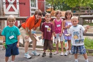Samantha Martinson with kids at ZSM