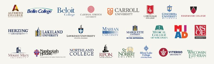 WI Private Colleges logos